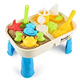 Lovelion Beach Toy Set with Activity Table with Storage Room and Cover Suitable