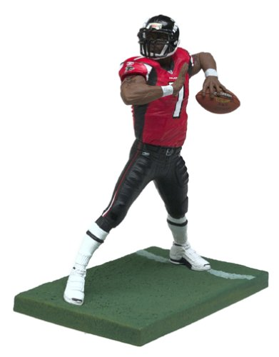 Variant Red Jersey - Michael Vick #7 Red Jersey Variant Chase McFarlane NFL Series 7 Six Inch Action Figure