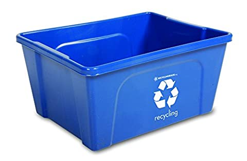 Qty = 4 Low Profile Blue Deskside Recycling Bin is perfect for recycling office paper. . . and - Paper Recycling Bin