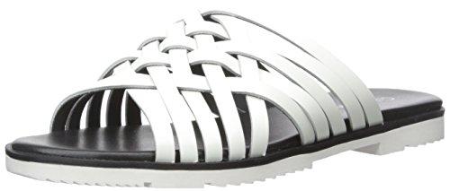 (Calvin Klein Women's Marimba Huarache Sandal, Platinum White, 5 M US)