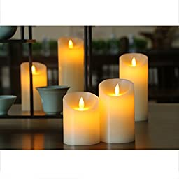 SCWYF Led Candle Light, Flameless Unscented with Remote Control & Timer (2/4/6/8 Hours) 4\'\'