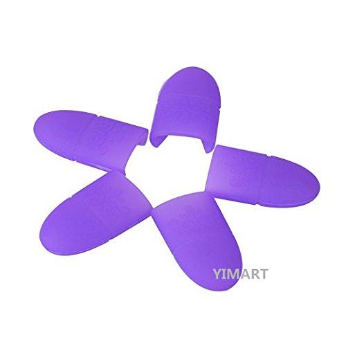 Yimart 10PCS Purple Silicone Gel Nail Soak Off UV Gel Art Polish Remover Wrap Cap Tools Resurrection clip set