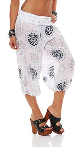 sale retailer 6a13c f1ea8 Print 7182 Boyfriend Blanc Taille Pantalon Avec Sweatpants Femme Malito  Court Dété De Unique Survêtement zwYnRAq