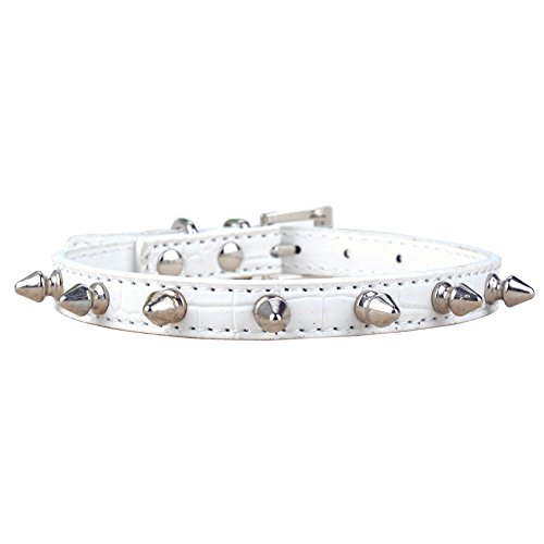 Etiger® FreeShipping Chic Sweet Pet Cat Dog Rivet Collar Spiked Studded Strap Collar Buckle Neck PU Leather Pet products DropShipping