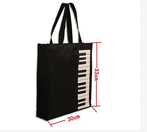 Black Music New Women Shopping Shoulder Bag Tote Katomi Bag Piano Hobos Bag Keys XEHwWwdq