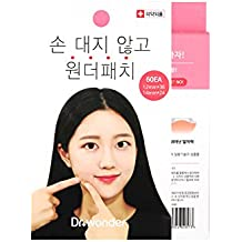 Korean Acne Care Patch Pimple Care Thin Invisible Water Proof Clear Patch Intensive Treatment Sticker [Dr. Wonder] WONDER PATCH Scar prevention, Absorbing Cover 60 Patches with 2 different patch size