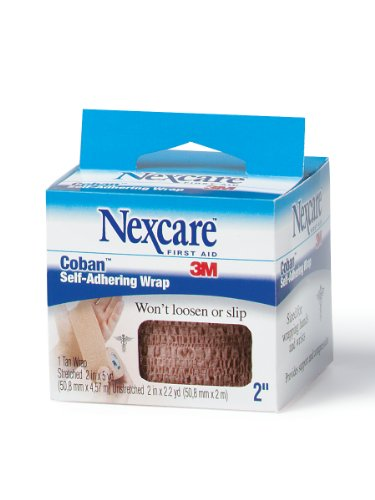 Nexcare Coban Self-Adherent Wrap, 2-Inch x 5-Yard Roll, 1-Count Boxes (Pack of 6) (Athletic Nexcare Wrap)