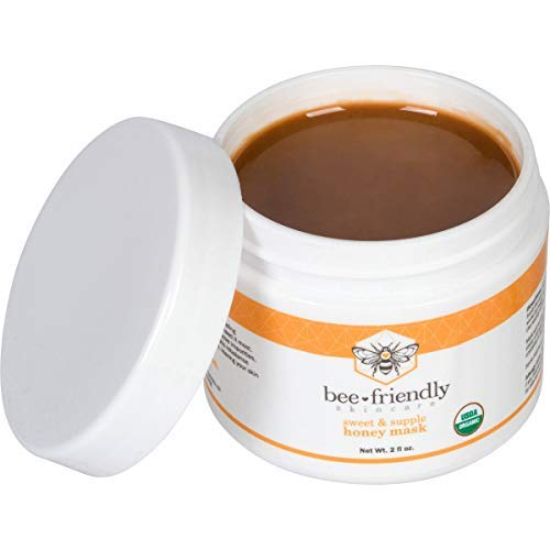 d Organic Raw Honey Mask w/French Pink Clay by BeeFriendly, Exfoliating Mask Leaves Skin Soft, Smooth, Youthful, Pulls Impurities, Enhances Collagen Production, Clears Acne 2 oz ()