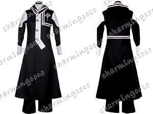 D Gray-man Allen Cosplay Costume Long Coat Uniform (Male M)