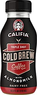 product image for Califia Farms Triple Shot Cold Brew Coffee with Almondmilk, 10.5 Oz (Pack of 12)   Dairy Free   Plant Based   Nut Milk   Vegan   Non-GMO