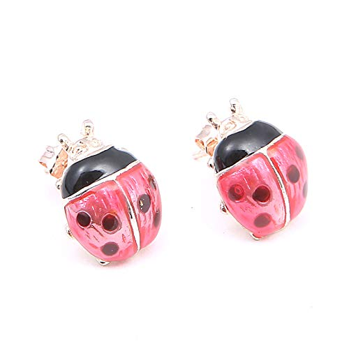 STORE-HOMER - Fashion Earrings Jewelry Red Oil Drip Ladybug Earrings Insect Earrings For Women Cute Charm Stud Earrings Birthday Party Favors