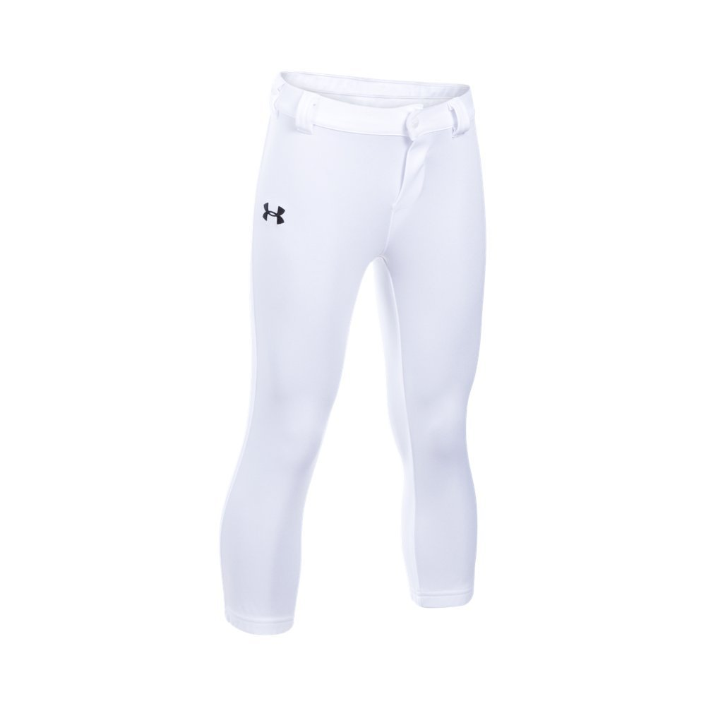 Under Armour Little Boys' Baseball Pant, White, 5 by Under Armour