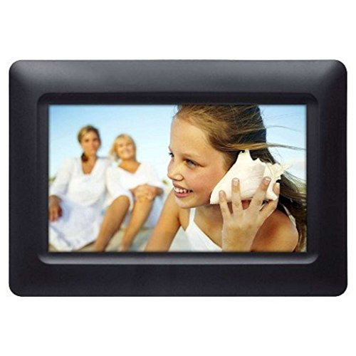"Polaroid 074-15-0117 Digital Photo Frame 7"" Screen - Black"