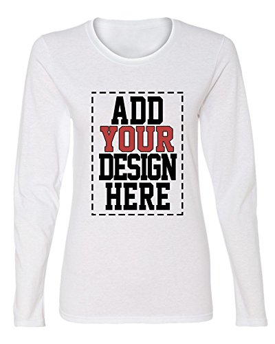 Custom Long Sleeve Shirts for Women - Make Your OWN Shirt - Add Your Design Picture Photo Text Printing (Make Your Own T Shirt)