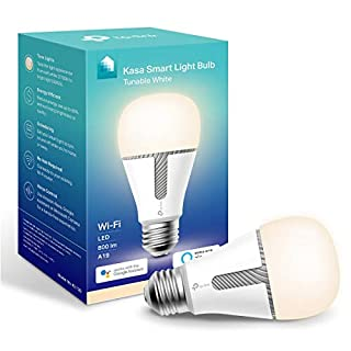 Kasa Smart Light Bulb, LED Smart WiFi Alexa Bulbs works with Alexa and Google Home,A19 Tunable,2.4Ghz,No Hub Required, 800LM Tunable White(2700K-5000K), 10W(KL120)