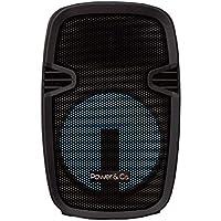 Power and Co XPL8000BK Bafle Bluetooth, 8 Pulgadas, USB, Negro, 4200W,
