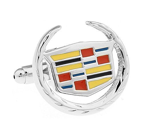 Promotioneer Men's Cadillac Logo Symbol Fashion Shirt Cufflinks with Gift Box 24
