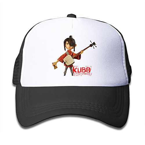 MEGGE Kubo And The Two Strings Fitted Child Grid Cap Black