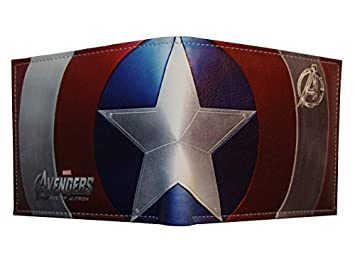 Marvel Captain America cartera doble pliegue: Amazon.es: Oficina y papelería