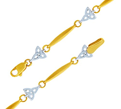 Petits Merveilles D'amour - 10 ct Deux Ton Or Trinité Bracelet