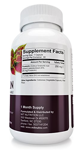 Forskolin Weight Loss Supplement | Leading Appetite Suppressant Fat Burning Metabolism Booster Diet Pills That Work Fast For Women & Men | GMP Certified, FDA Approved, 60 Natural Diet Pills That Work.