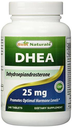 Лучшие 240 таблетки 25 мг DHEA Naturals