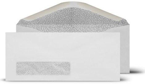 Business Envelopes # 9 Window 3-7/8x8-7/8-Inch Envelopes-Security Tinted Envelopes-100/Count