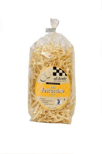 Al Dente Egg Fettuccine, 12-Ounce Bag (Pack of 6)