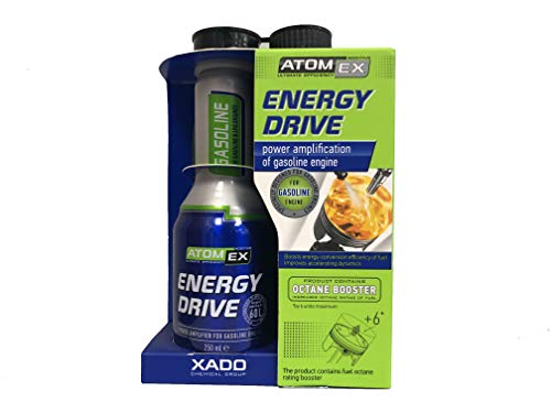 XADO Gasoline Energy Drive Fuel Additive – Octane Booster & Power Amplification (Bottle, 250ml)