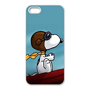 iphone5 5s case , Charlie Brown and Snoopy iphone5 5s Cell phone case White-YYTFG-17881
