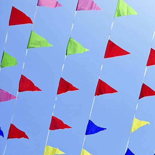 (Kmall 150 Pcs Multicolor Festoon Pennant Banner Nylon Cloth Flags,80m for Party,Birthdays,Wedding,Festivals,Christmas,Easter Outerdorr Garden Shops Celebrations)