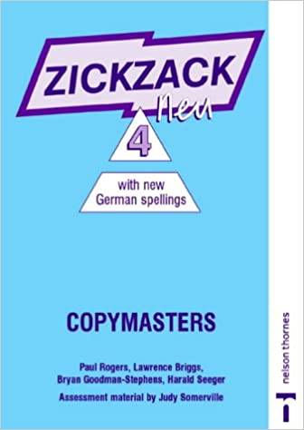 Zickzack Neu: Copymasters with New German Spellings Stage 4 ...