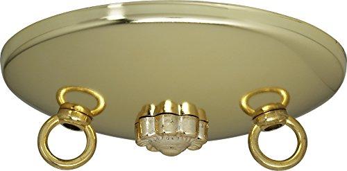 "Satco Bath Swag Canopy Kit Brass Fin 5"" Dia. model number 90-194-SAT"