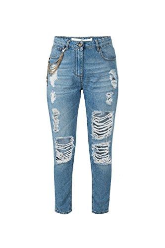 Elisabetta Franchi Pantalone MOD. Jeans Donna MOD. PJ32S81E2 Light Blue