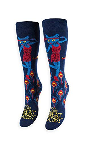 FREAKER Feet, Unisex Casual Dress Fun Colorful Cotton Crew Socks, The Great Catsby Gatsby -