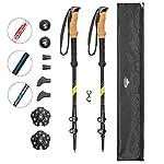 Cascade Mountain Tech Carbon Fiber Adjustable Trekking Poles 2 Pack – Lightweight Quick Lock Walking or Hiking Stick – 1 Pair
