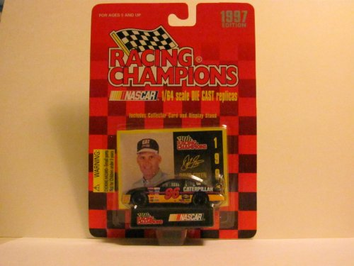 DAVID GREEN - Caterpillar #96 (Monte Carlo) - NASCAR - 1997 Edition - RACING CHAMPIONS - 1/64 Scale DIE CAST Replica - Includes Collector Card and Display Stand