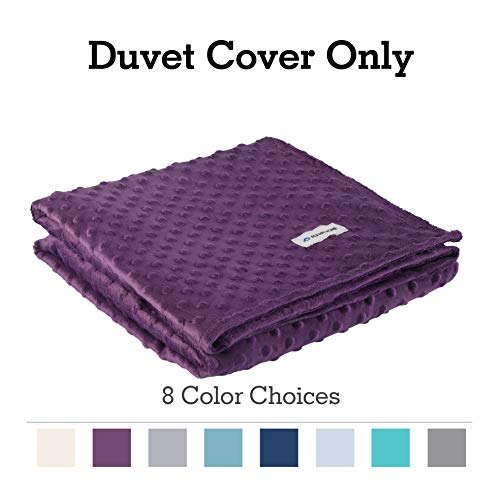 Cheap ALPHA HOME Removable Duvet Cover for Weighted Blanket Crystal Velvet Material Reversible Design 60
