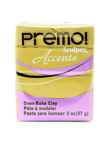 Sculpey Premo Premium Polymer Clay antique gold 2 oz. [PACK OF 5 ]