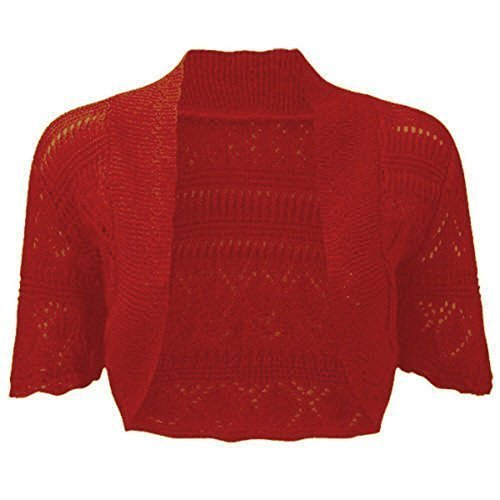 Fashionchic Ladies Bolero Shrug Women's Plus Size Crochet Knitted Cardigan Plus Size Shrug Top 8-30