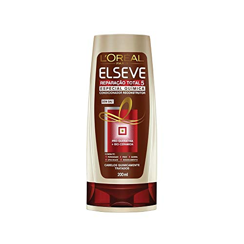 Shampoo e Condicionador Reparação Total Elséve até 41% OFF