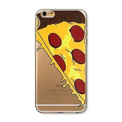 iPhone 6 Plus Case, DECO FAIRY® Protective Case Bumper[Scratch-Resistant] [Perfect Fit] Ultra Slim Translucent Silicone Clear Case Gel Cover for Apple iPhone 6 Plus (Big Cartoon Pizza)