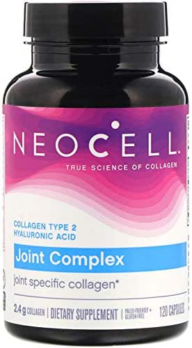 Collagen 2 Joint Complex with Hyaluronic Acid Glucosamine and Chondroitin Cartilage Support 2400 mg 120 Capsules