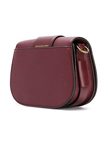 Ralph Lauren Borsa A Spalla Donna 428668943004 Pelle Bordeaux