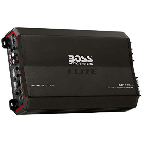 BOSS Audio Elite BE1600.4 4 Channel Car Amplifier - 1600 Watts, Full Range, Class A/B, 2-8 Ohm Stable, MOSFET Power Supply, Bridgeable
