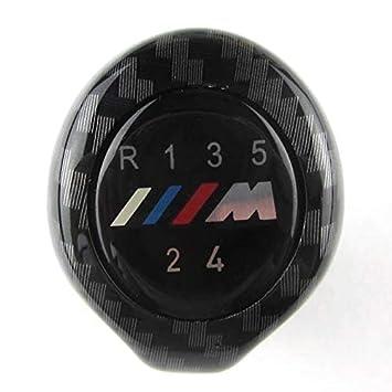 XZANTE 5 Fibre De Carbone De Vitesse equipement De Voiture Levier De Vitesses avec Logo M pour BMW 1 3 5 6 Series E30 E32 E34 E36 E38 E39 E46 E53 E60 E63 E83 E84