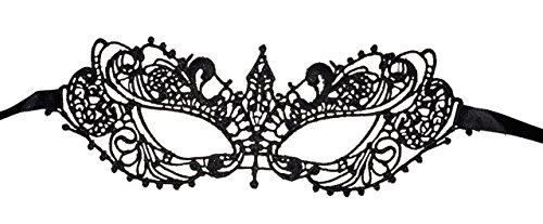 Luxury Mask Women's Lace Eye Mask For Masquerade Party Prom Ball Halloween (Masquerade Halloween)