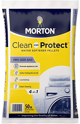 Morton Salt 1501 Clean Protect System Water Softener, 50 lbs, White by Morton Salt