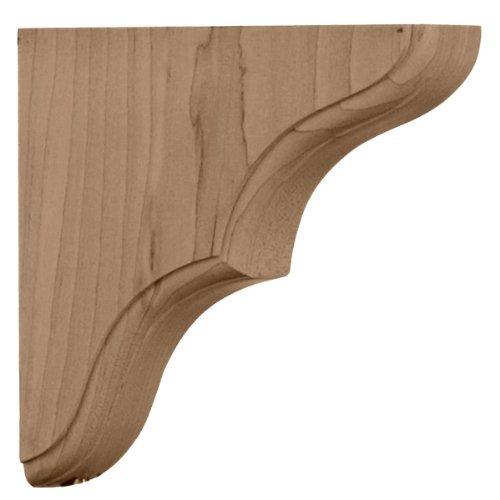 (Ekena Millwork BKTW02X06X06STRW 1 3/4-Inch W by 5 1/2-Inch D by 5 1/2-Inch H Stratford Wood Bracket, Rubber Wood by Ekena Millwork)