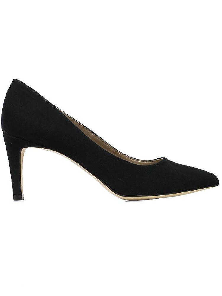 Will's Vegan Shoes SMART COURTS BLACK FAUX SUEDE 3 UK / 36 EU / 5 US